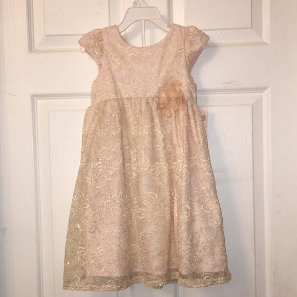 85a5c5cad479d Target Mia & Mimi Dresses | New Mia Mimi Gold Lace And Blush Satin ...